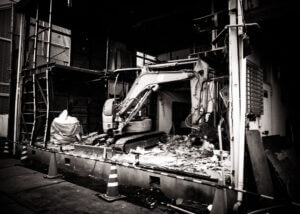 Demolition of the building that used to stand next to mine