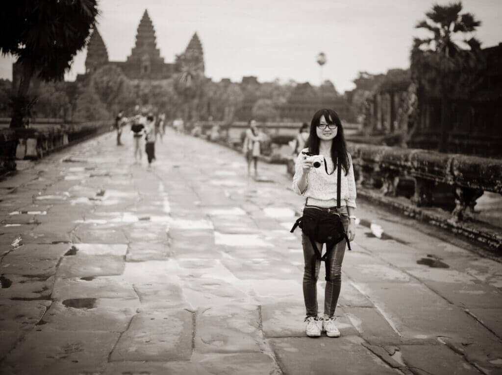 While on vacation together in Cambodia
