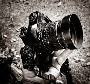 Pentax MX, a preferred camera for wandering