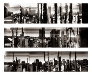 Experimental panoramic images taken from a moving train